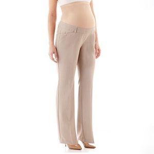 🆕 Duo Maternity Full Panel Tan Dress Pants sz. S